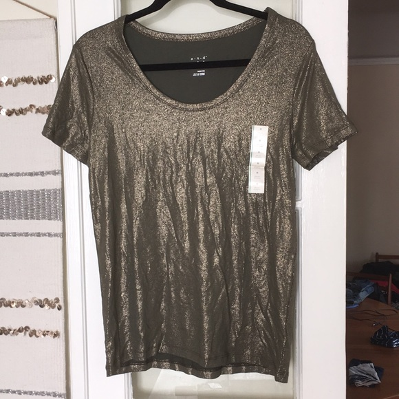 a new day Tops - Shimmery olive/gold t-shirt